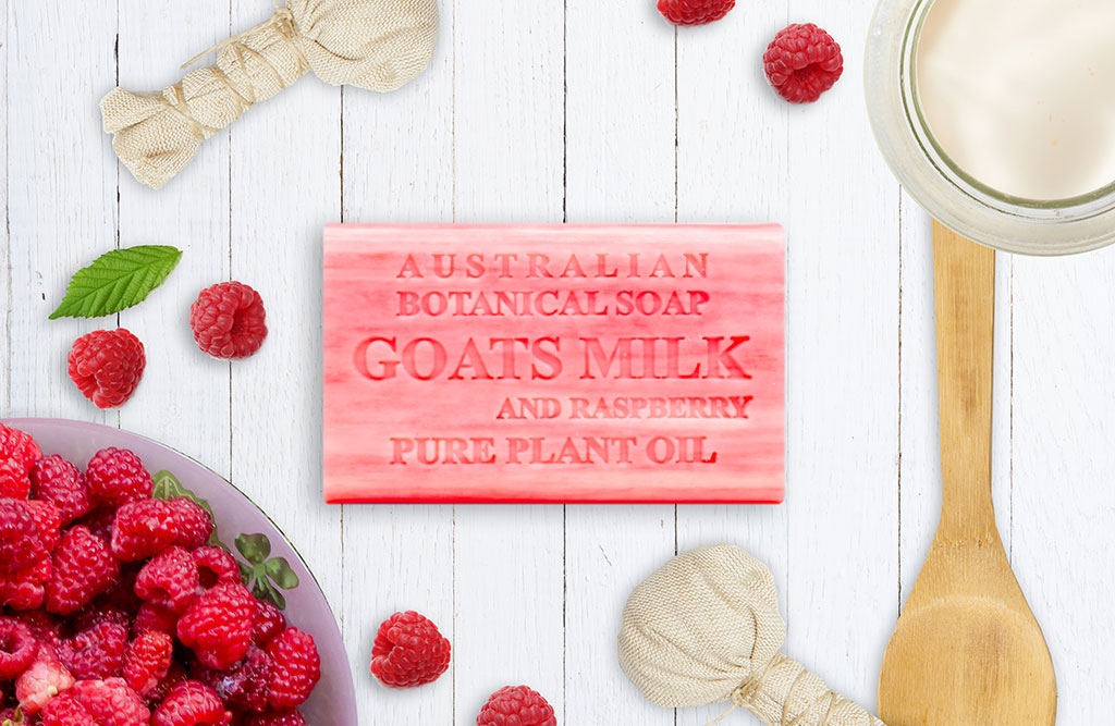 Goats Milk with Raspberry
