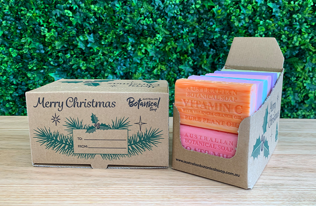 CHRISTMAS MIXED BOX SOAP x 12 PACK